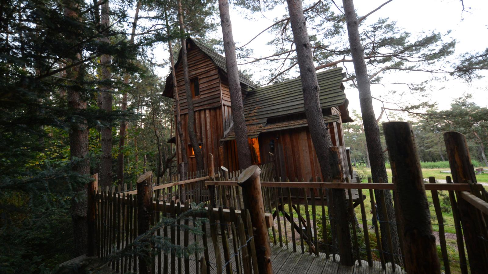 L'une des cabanes cosy dans les arbres de Nids des Vosges à Champdray.